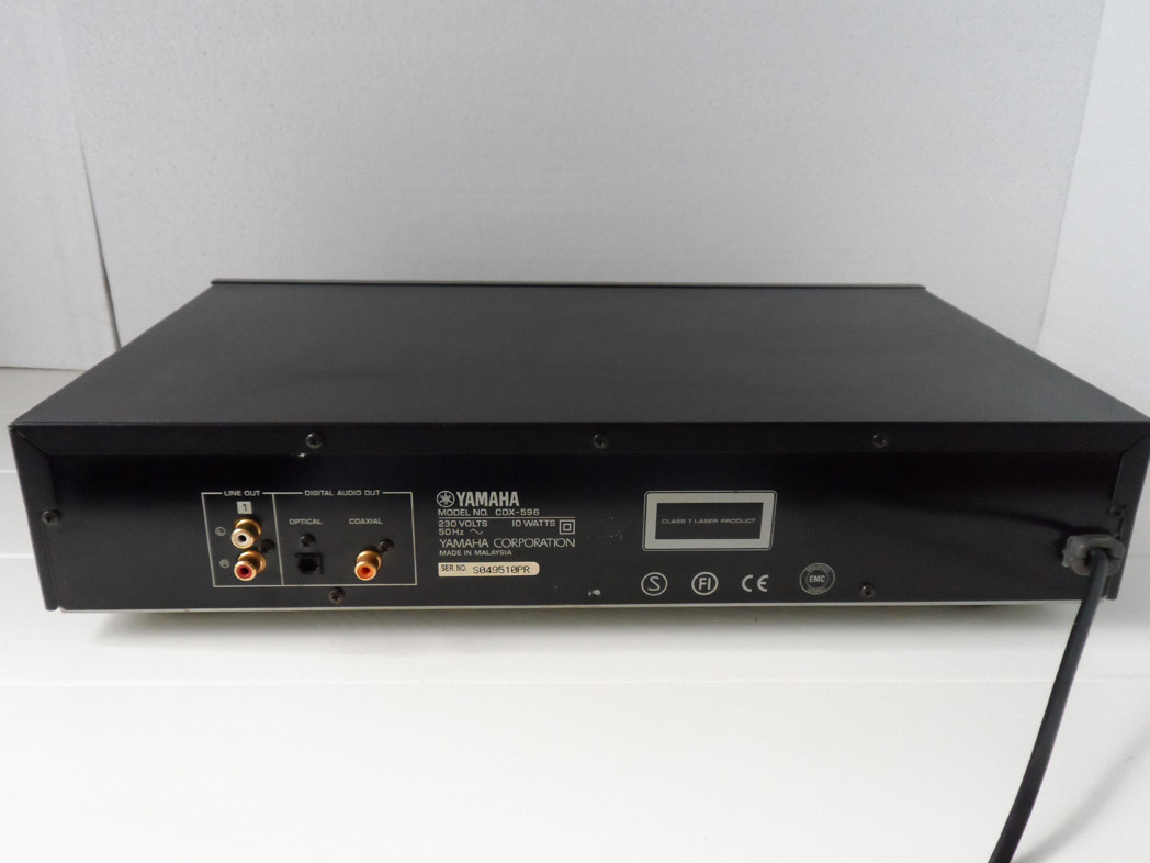 yamaha cdx 596 cd player pro bit with remote control yba. Black Bedroom Furniture Sets. Home Design Ideas