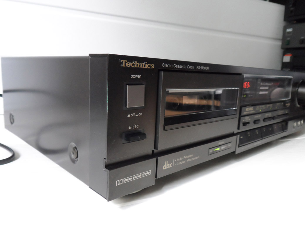 technics rs b608r auto reverse cassette deck dbx hx pro yba audio. Black Bedroom Furniture Sets. Home Design Ideas