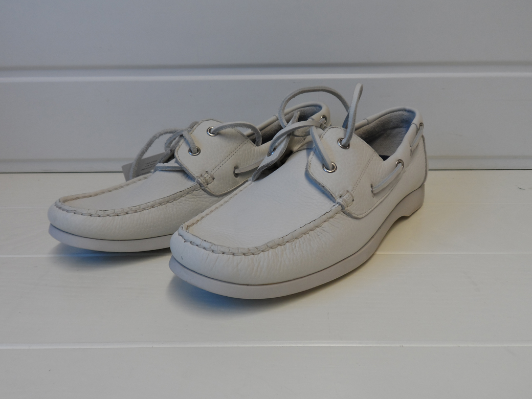 rockport womens leather deck shoes leather white size 7